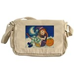 Kitten and Witch Messenger Bag