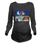 Kitten and Witch Long Sleeve Maternity T-Shirt