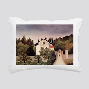 Rousseau - House on Outs Rectangular Canvas Pillow