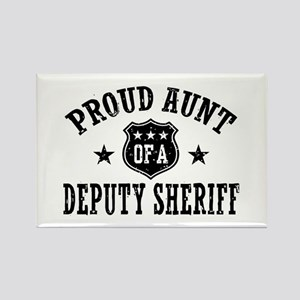Proud Aunt of a Deputy Sheriff Rectangle Magnet