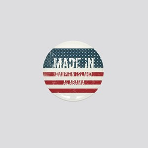 Made in Dauphin Island, Alabama Mini Button