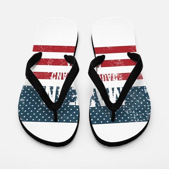 Made in Dauphin Island, Alabama Flip Flops