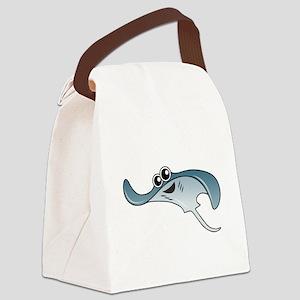 Cartoon Stingray Canvas Lunch Bag