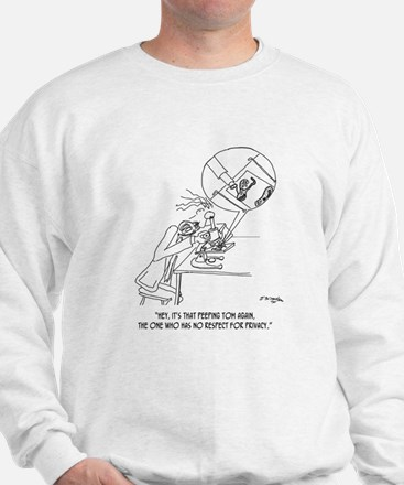 Peeping Tom With a Microscope Sweatshirt