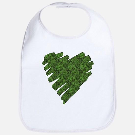 Green Leaves Heart Bib