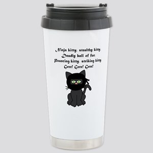 Ninja Kitty Stainless Steel Travel Mug