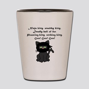 Ninja Kitty Shot Glass