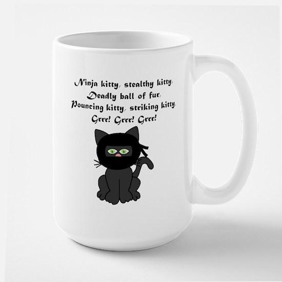 Ninja Kitty Large Mug