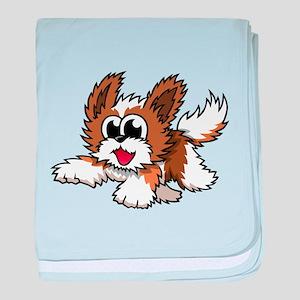Cartoon Shih Tzu baby blanket