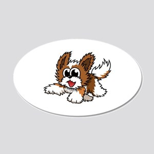 Cartoon Shih Tzu 20x12 Oval Wall Decal