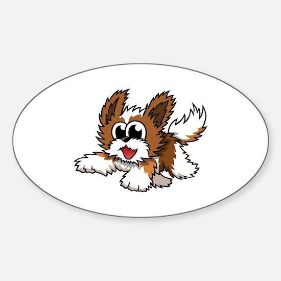 Cartoon Shih Tzu Sticker (Oval)