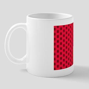 Red Square Pattern Mug