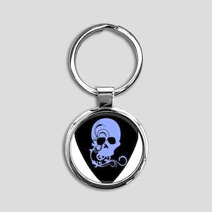 Skull guitar pick Round Keychain