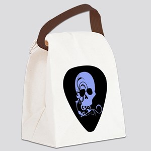 Skull guitar pick Canvas Lunch Bag