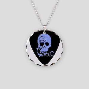 Skull guitar pick Necklace Circle Charm