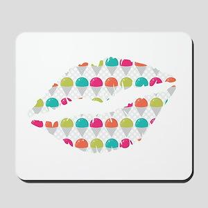 Colorful Snowcones Lips Mousepad