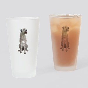Irish Wolfhound (sit) Drinking Glass