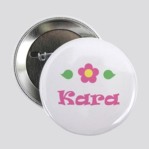 "Pink Daisy - ""Kara"" Button"