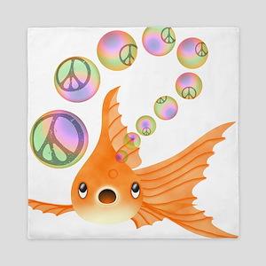Goldfish Peace Bubbles 2 Queen Duvet
