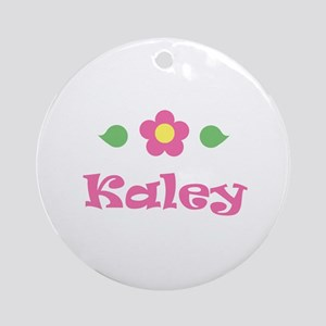 "Pink Daisy - ""Kaley"" Ornament (Round)"