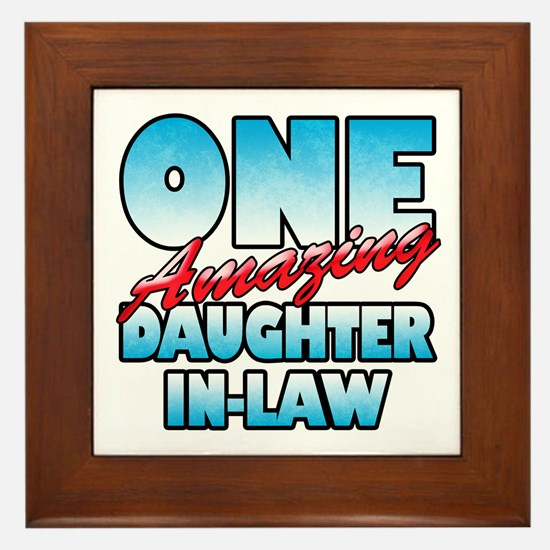 One Amazing Daughter-In-Law Framed Tile