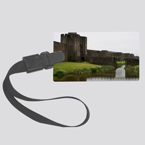 Caerphilly Castle, Wales Large Luggage Tag