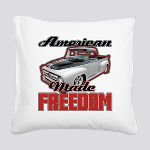 American Made Square Canvas Pillow