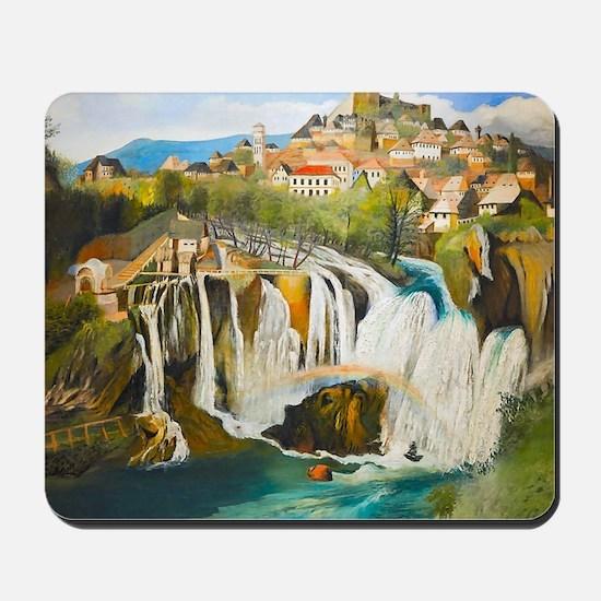 Waterfall at Jajce Mousepad