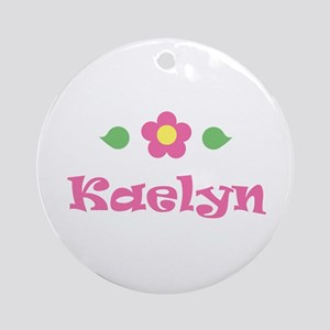 """Pink Daisy - """"Kaelyn"""" Ornament (Round)"""