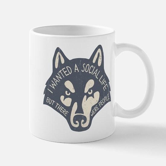 Anti-Social Wolf Mug