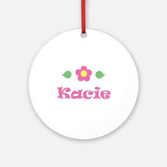 "Pink Daisy - ""Kacie"" Ornament (Round)"