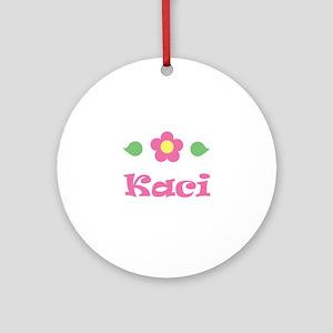 """Pink Daisy - """"Kaci"""" Ornament (Round)"""