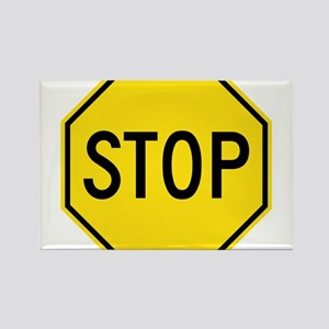 Yellow Stop Sign Magnets