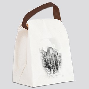 Half Dome Winter Portrait Canvas Lunch Bag