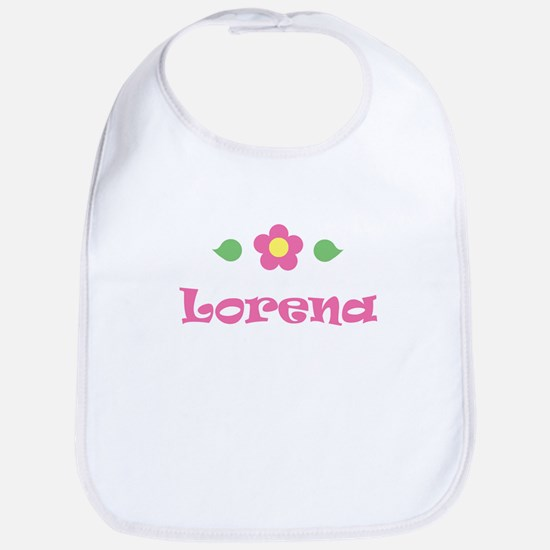 """Pink Daisy - """"Lorena"""" Bib"""