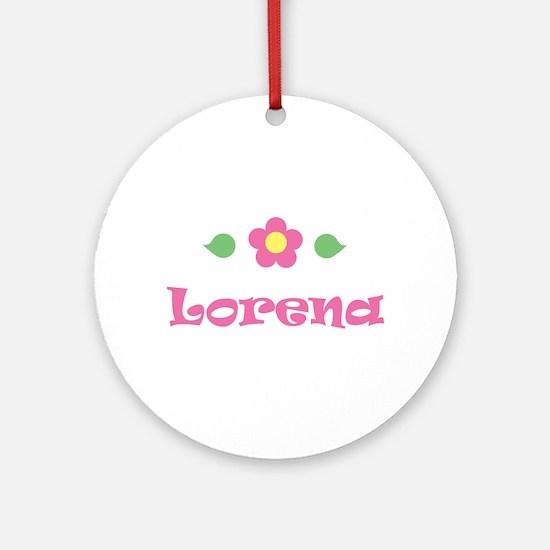 "Pink Daisy - ""Lorena"" Ornament (Round)"