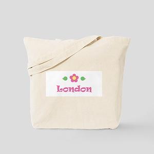 "Pink Daisy - ""London"" Tote Bag"