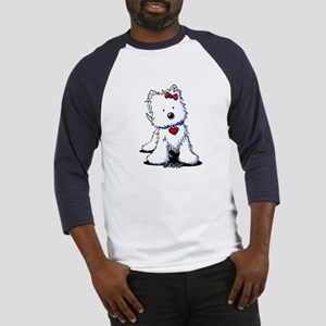 Westie Heart Girl Baseball Jersey
