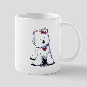Westie Heart Girl Mug
