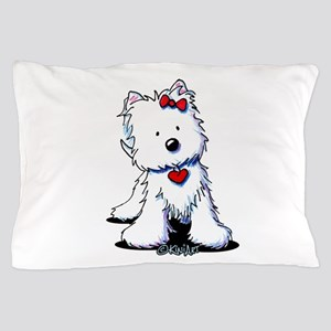Westie Heart Girl Pillow Case