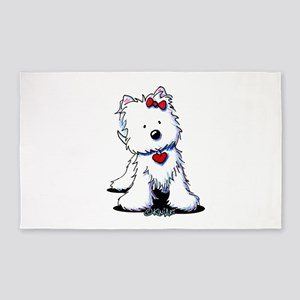 Westie Heart Girl 3'x5' Area Rug