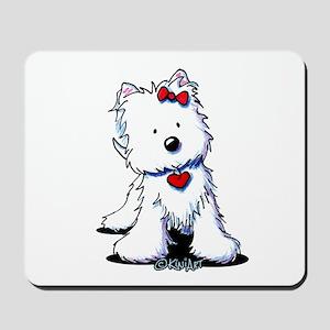 Westie Heart Girl Mousepad