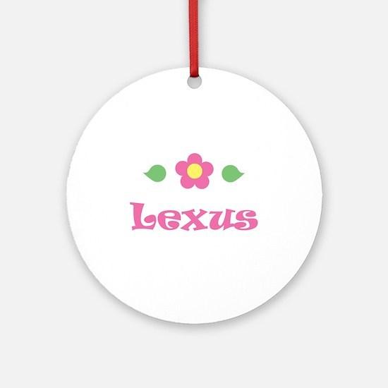 "Pink Daisy - ""Lexus"" Ornament (Round)"