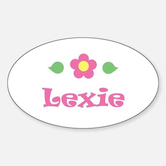 """Pink Daisy - """"Lexie"""" Oval Decal"""