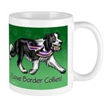 Border Collie With Ribbon Mugs