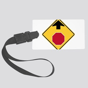 Stop Ahead Sign Luggage Tag