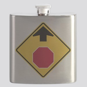 Stop Ahead Sign Flask
