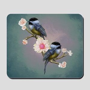 chickadee song birds Mousepad