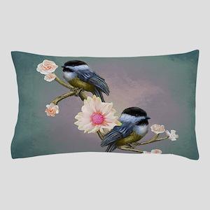 chickadee song birds Pillow Case