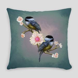 chickadee song birds Everyday Pillow